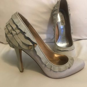 Badgley Mischka shoes worn once ,good condition